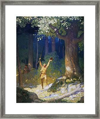 Cooper: Deerslayer, 1925 Framed Print by Granger