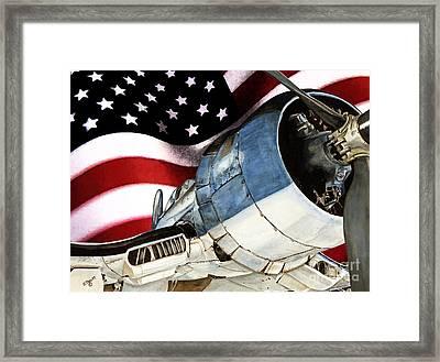Corsair And Flag Framed Print