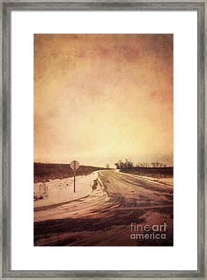 Country Road Framed Print by Jill Battaglia