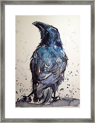 Crow Framed Print by Kovacs Anna Brigitta