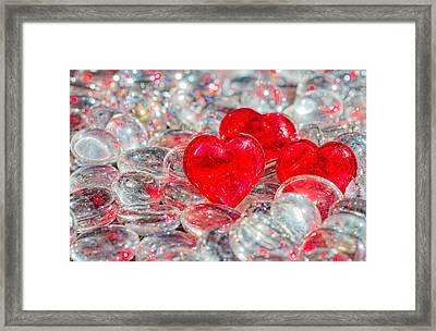 Crystal Heart Framed Print by Peter Lakomy