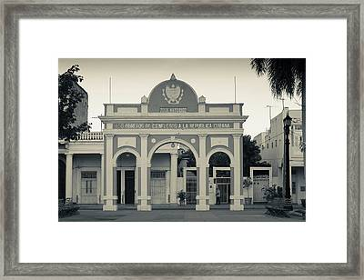 Cuba, Cienfuegos Province, Cienfuegos Framed Print by Walter Bibikow