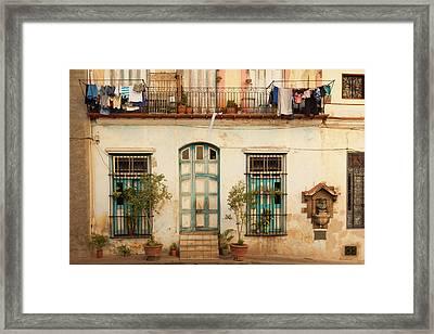 Cuba, Havana, Havana Vieja, Old Havana Framed Print by Walter Bibikow