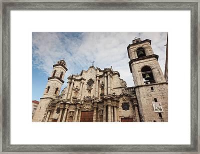 Cuba, Havana, Havana Vieja, Plaza De La Framed Print by Walter Bibikow