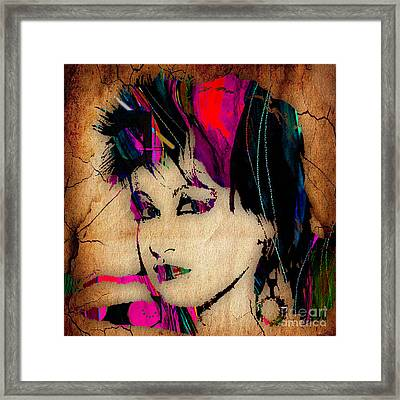Cyndi Lauper Collection Framed Print by Marvin Blaine
