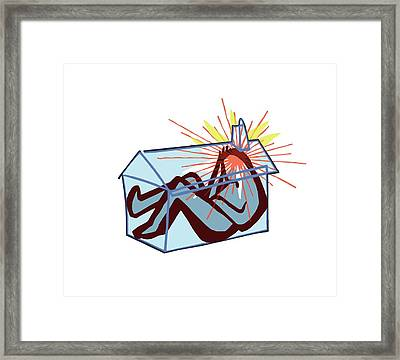Depression Framed Print by Paul Brown
