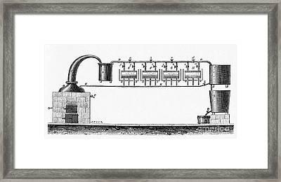 Distillation Apparatus, 19th Century Framed Print
