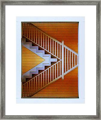 Distorted Stairs Framed Print