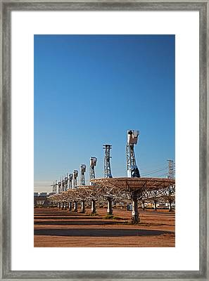 Disused Solar Power Plant Framed Print by Jim West