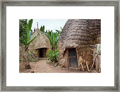 Dorze In The Guge Mountains, Ethiopia Framed Print