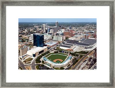Downtown Indianpolis Indiana  Framed Print by Bill Cobb