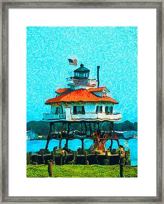 Drum Point Light Framed Print by Unknown