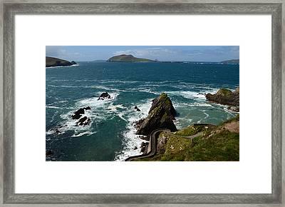 Dunquin Pier Framed Print by Barbara Walsh