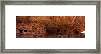 Dwelling Structures On A Cliff, House Framed Print by Panoramic Images