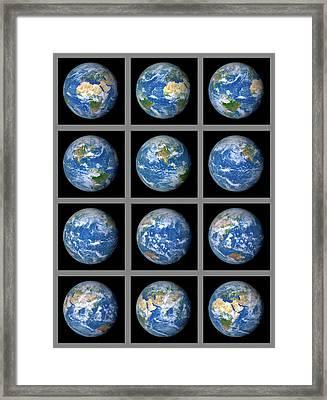 Earth's Rotation Framed Print by Detlev Van Ravenswaay