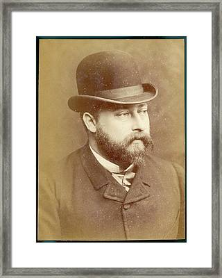 Edward Vii, British Royalty As Prince Framed Print by Mary Evans Picture Library