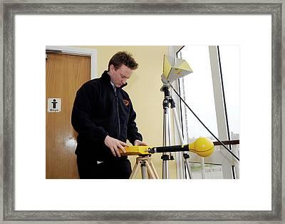 Electromagnetic Radiation Monitoring Framed Print