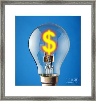 Energy Costs, Conceptual Image Framed Print by Victor de Schwanberg