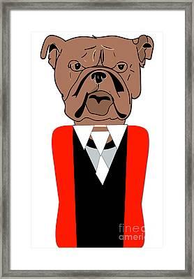 English Bulldog Painting Framed Print by Marvin Blaine
