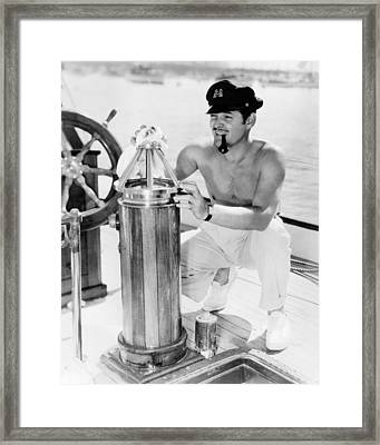 Errol Flynn Framed Print by Silver Screen