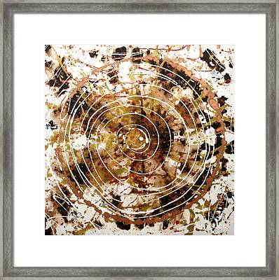 Eternal Circle Framed Print by Baljit Chadha