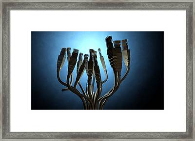 Ethernet Abstract Silhouettes Framed Print