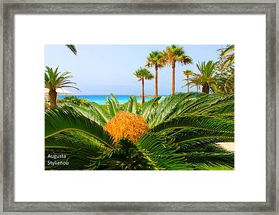 Exotic Landscape Framed Print by Augusta Stylianou