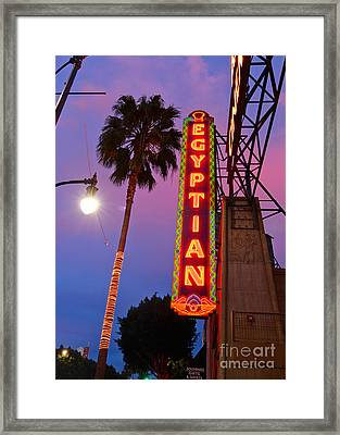 Famous Egyptian Theater In Hollywood California. Framed Print by Jamie Pham