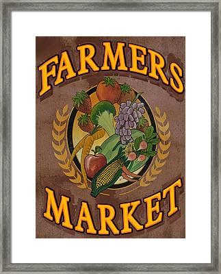 Farmers Market Framed Print by Frozen in Time Fine Art Photography