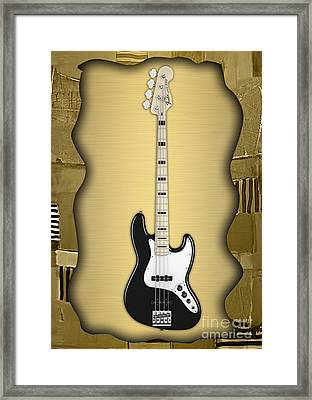 Fender Bass Guitar Collection Framed Print by Marvin Blaine