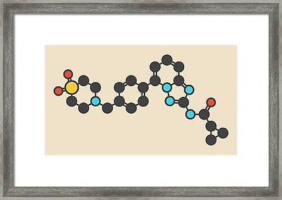 Filgotinib Anti-inflammatory Molecule Framed Print by Molekuul