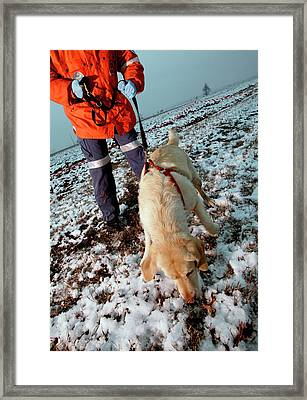 Finding Human Remains Framed Print by Mauro Fermariello/science Photo Library
