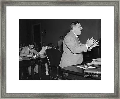 Fiorello La Guardia, American Politician Framed Print