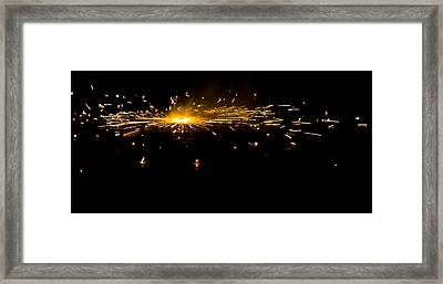 Fireworks Framed Print by Akash Routh
