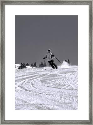 First Run Framed Print by Sebastian Musial