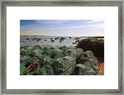 Fishing Traps Framed Print