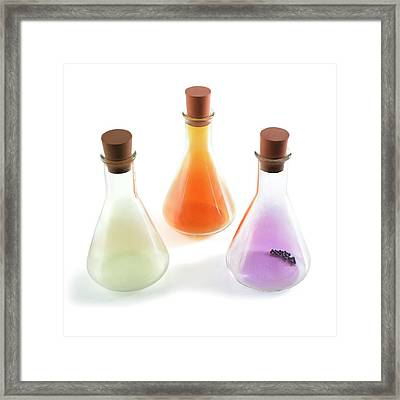 Flasks Containing Halogens Framed Print