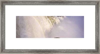 Floodwaters At Iguacu Falls, Brazil Framed Print by Panoramic Images
