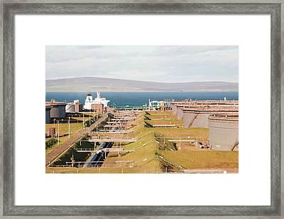 Flotta Oil Terminal Framed Print