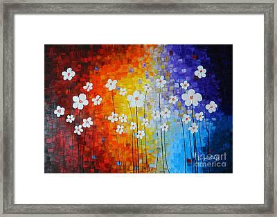 Flowers After Rain Framed Print by Denisa Laura Doltu