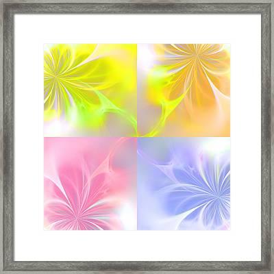 4 Flowers Framed Print by Steve K