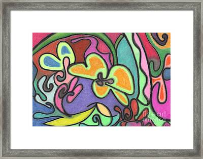 Fluid Flowers Framed Print by Christine Perry