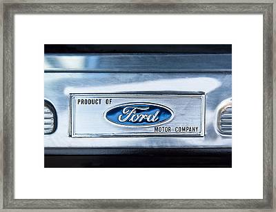 Powered By Ford Emblem -0307c Framed Print by Jill Reger