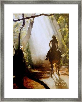 Forest Rider Framed Print