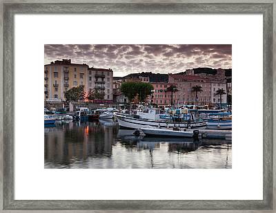 France, Corsica, Ajaccio, City View Framed Print