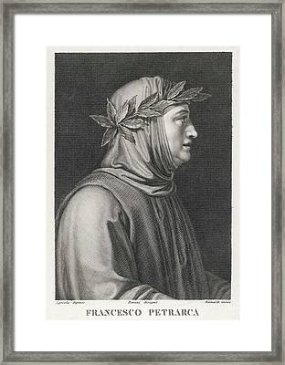 Francesco Petrarch  Italian Poet Framed Print by Mary Evans Picture Library