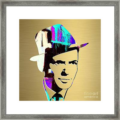 Frank Sinatra Art Framed Print by Marvin Blaine