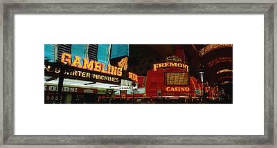 Fremont Street Experience Las Vegas Nv Framed Print
