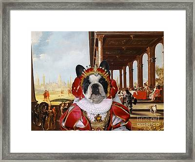 French Bulldog Art Canvas Print Framed Print by Sandra Sij