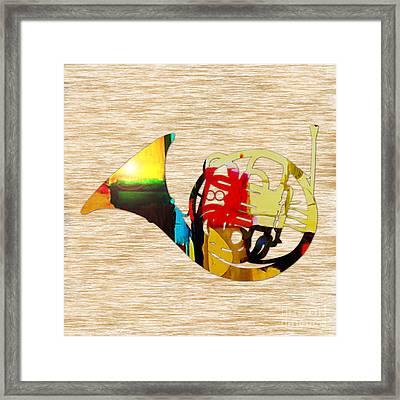 French Horn Framed Print